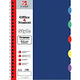 Тетрадь Канц-Эксмо А4 80 листов, синяя, клетка
