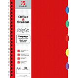 Тетрадь Канц-Эксмо А4 80 листов, тёмно-красная, клетка