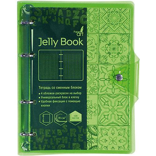 """Тетрадь со сменными блоками Канц-Эксмо """"Jelly Book"""" А5, 120 листов, неоново-салатовый от Канц-Эксмо"""