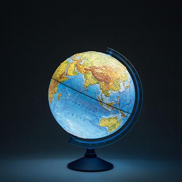 Глобус Земли Globen физический рельефный с подсветкой, 320мм