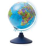 Глобус Земли Globen политический рельефный с подсветкой, 210мм