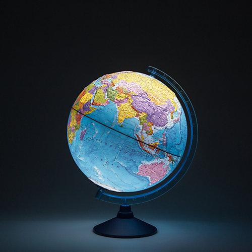 Глобус Земли Globen политический рельефный с подсветкой, 320мм от Globen