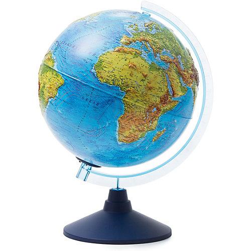 Глобус Земли Globen физический рельефный с подсветкой, 250мм от Globen