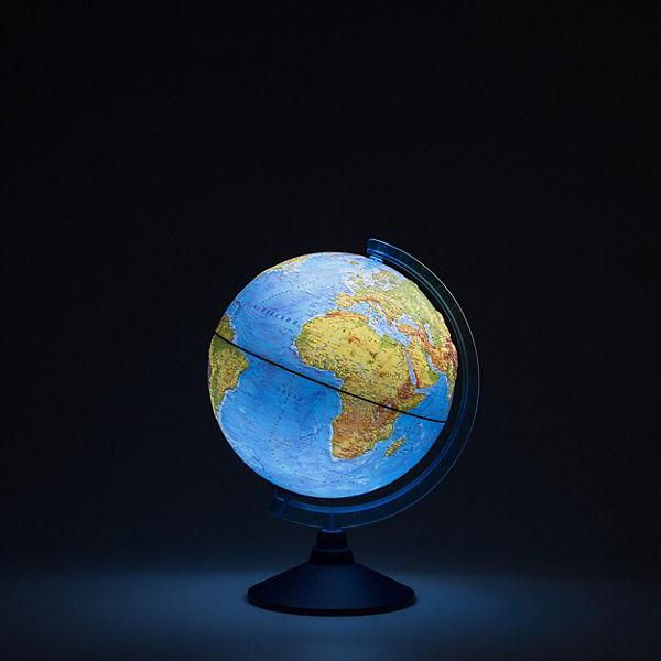 Глобус Земли Globen физический рельефный с подсветкой, 250мм