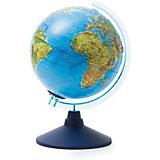 Глобус Земли Globen физический рельефный с подсветкой, 210мм