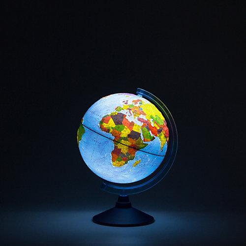 Глобус Земли Globen физико-политический рельефный с подсветкой, 250мм от Globen