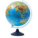 Глобус Земли Globen физико-политический рельефный с подсветкой, 320мм