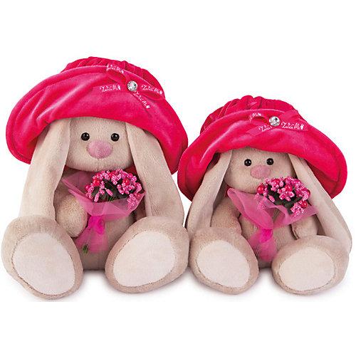 Мягкая игрушка Budi Basa Зайка Ми в бархатной шляпе с букетом, 18 см от Budi Basa