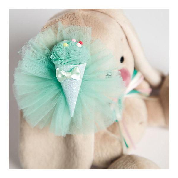 Мягкая игрушка Budi Basa Зайка Ми с изумрудным мороженым, 15 см