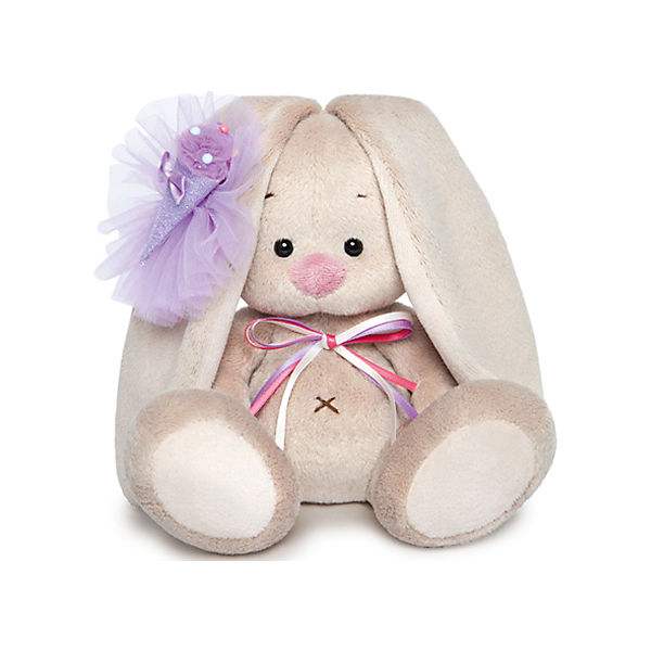 Мягкая игрушка Budi Basa Зайка Ми с фиолетовым мороженым, 15 см