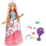 """Большая кукла Barbie """"Dreamtopia"""" Блондинка с длинными волосамми, 43 см"""