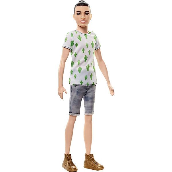 Ken Fashionistas Puppe im Kaktus-Look und Manbun, Barbie
