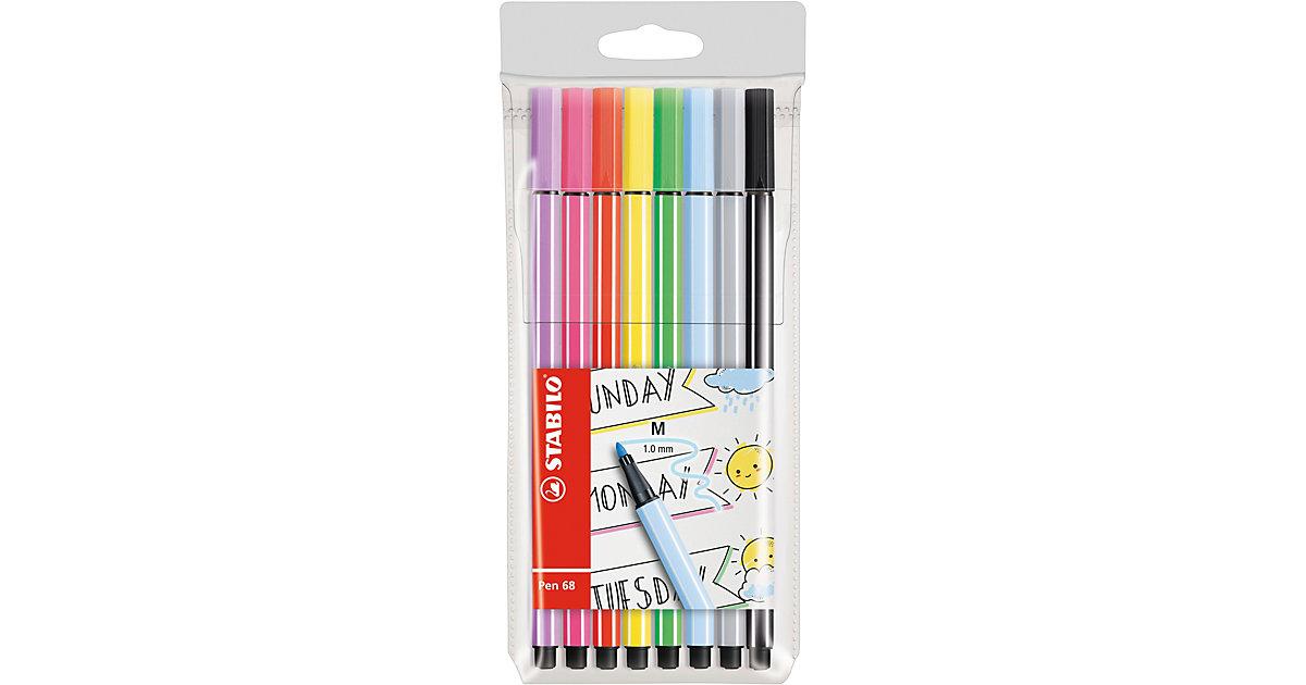 Filzstifte Pen 68 Etui My STABILO Journal, 8 Farben