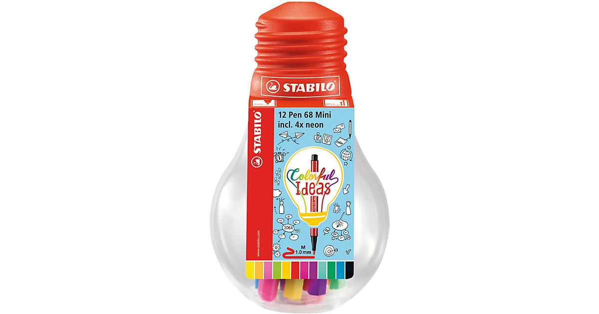 Filzstifte Pen 68 mini Colorful Ideas, 12 Farben