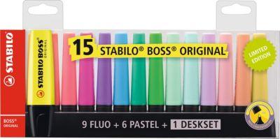 """Набор текстовыделителей Stabilo """"Boss Original"""", 15 цветов"""