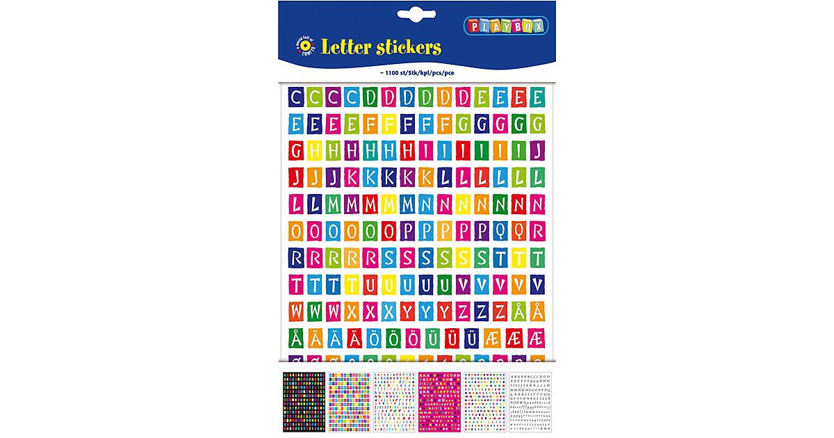 Sticker Buchstaben, 1.100 Stück