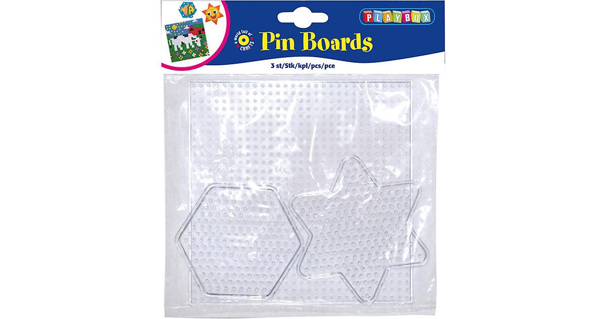 Bügelperlen Steckplatten, 3 Stück Formen
