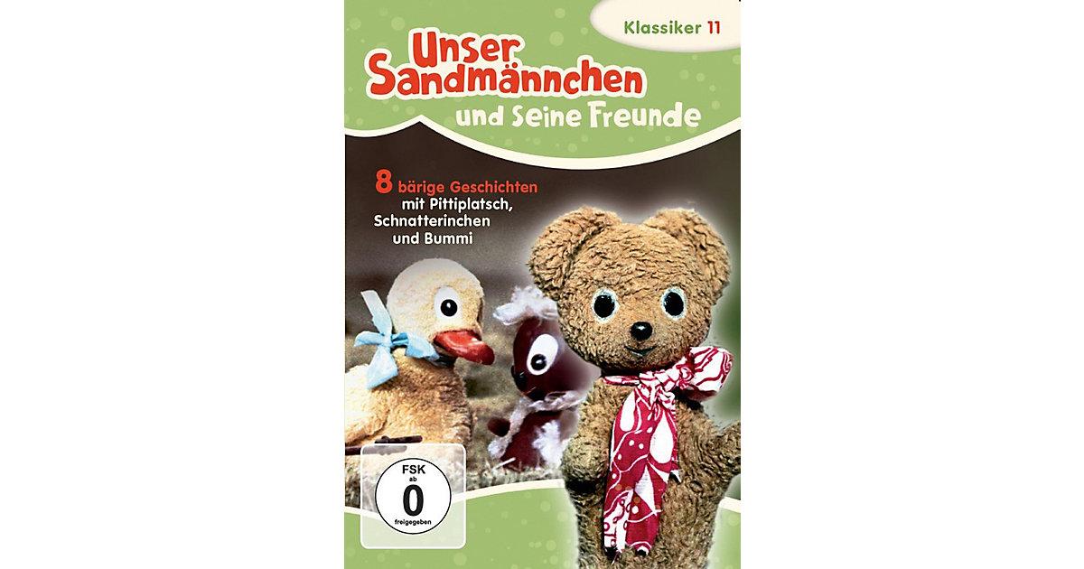 DVD Unser Sandmännchen-Klassiker 11 - 8 Bärige Geschichten mit Pittiplatsch,Schnatterinchen und Bummi Hörbuch
