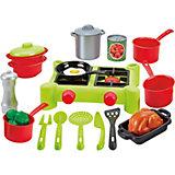 Игровой набор Ecoiffier 100% Chef плита с продуктами, 21 предмет