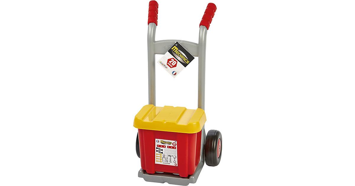 Transportkarre mit Werkzeugbox und Zubehör | Baumarkt > Werkzeug > Werkzeug-Sets | écoiffier