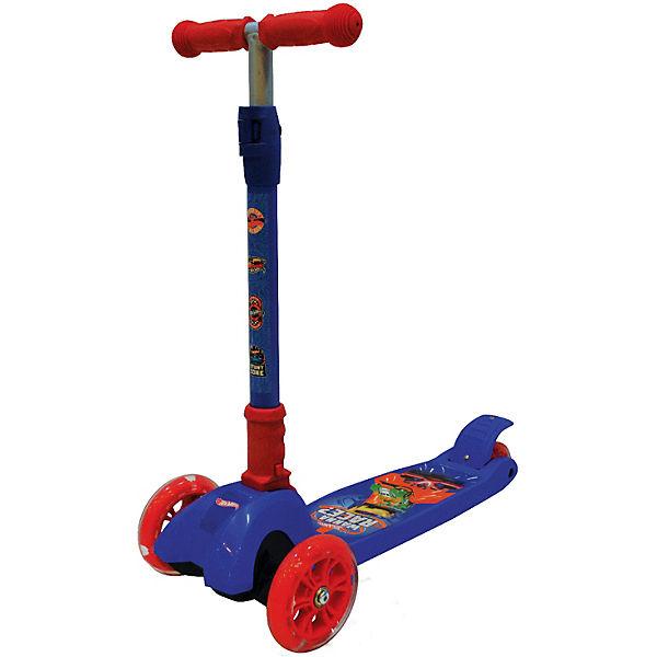 """Трёхколёсный самокат Next """"Hot wheels"""", синий"""