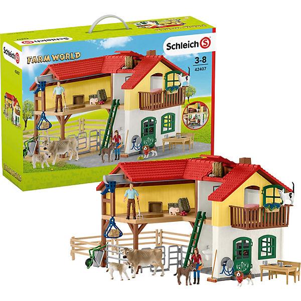 Schleich 42407 Bauernhaus Mit Stall Und Tieren Schleich Mytoys