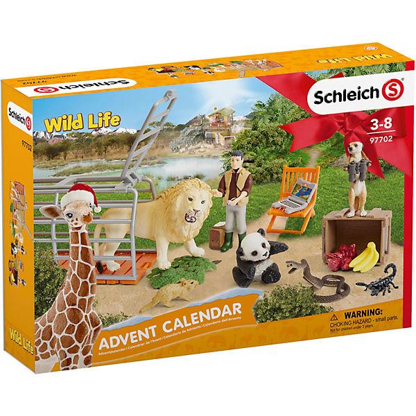 SCHLEICH 97702 Wild Life: Adventskalender Wild Life, Schleich