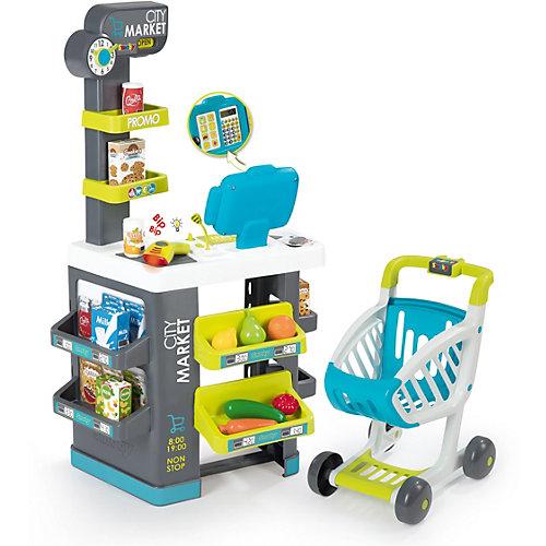 """Игровой набор Smoby """"City Market"""" Супермаркет с тележкой, 34 предмета от Smoby"""