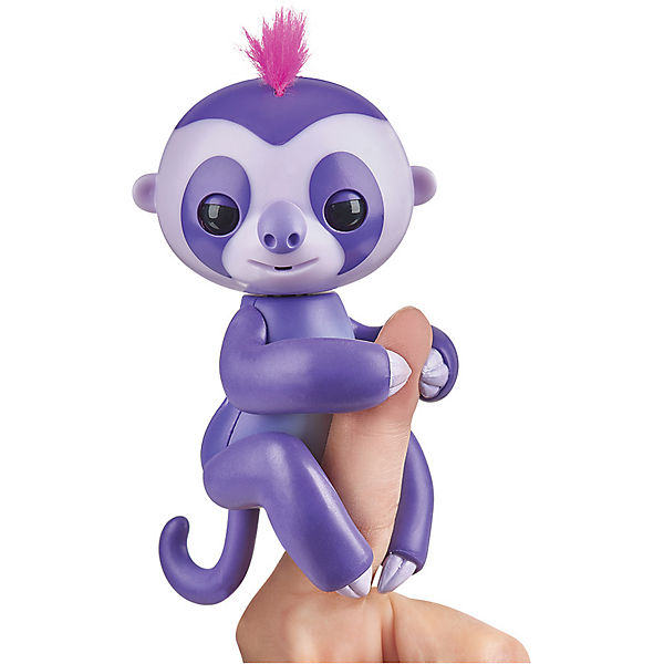 Интерактивный ленивец  Fingerlings Мардж, 12 см (пурпурный) WowWee