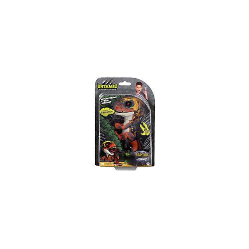 Интерактивный динозавр WowWee Fingerlings, 12 см (зеленый с оранжевым) от WowWee
