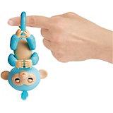 Интерактивная обезьянка WowWee Fingerlings Амелия, 12 см (изумрудная)