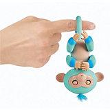 Интерактивная обезьянка WowWee Fingerlings Эдди, 12 см (голубая)