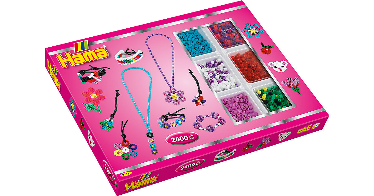 HAMA 3713 Kreativbox Schmuck, 2.400 midi-Perlen & Zubehör