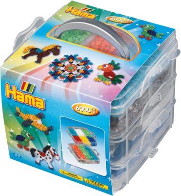 Bügelbilder Hama Midi Bügelperlen kleine Aufbewahrungsbox 6701 Steckperlen Perlen Sortierbox