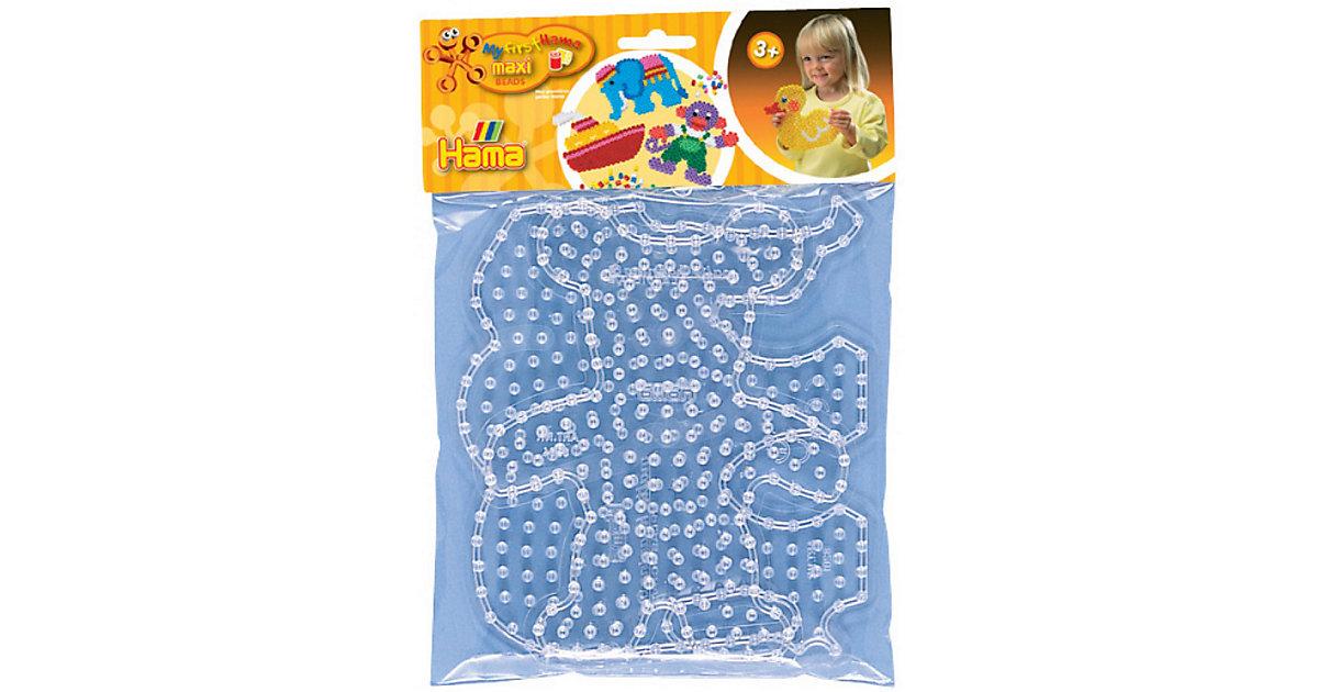maxi-Stiftplatten Elefant & Teddybär