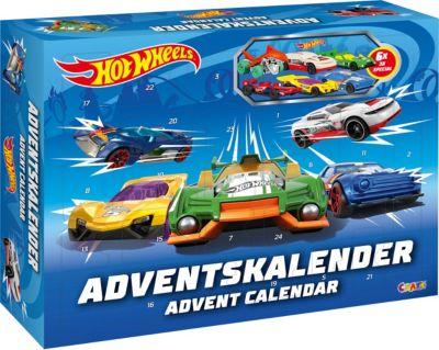 MATTEL HOT WHEELS ADVENTSKALENDER 2018 INKLUSIVE 8 AUTOS ZU WEIHNACHTEN Spielzeugautos