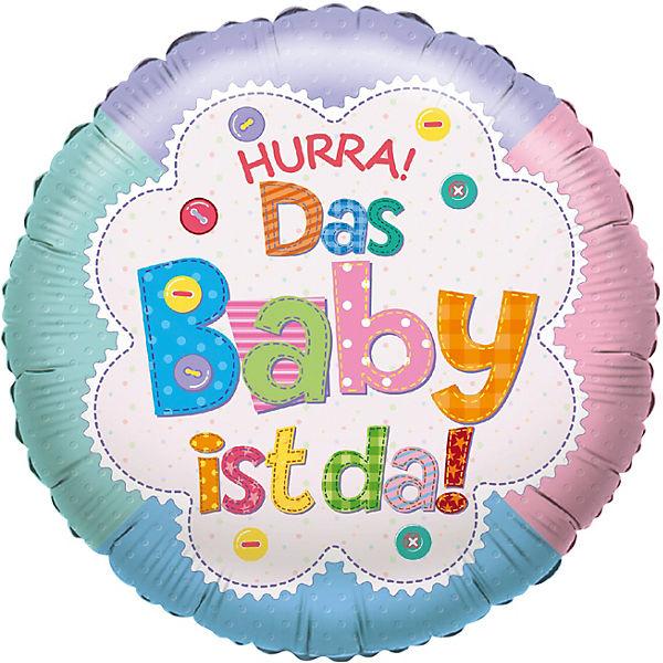 Folienballon Hurra Das Baby Ist Da Karaloon
