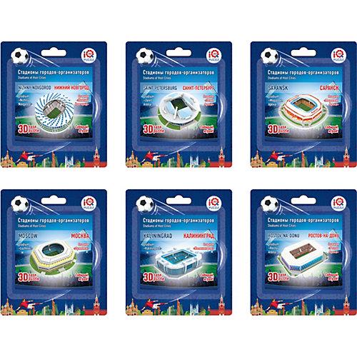 """Набор 3D пазлов № 1 IQ-puzzle """"Малые стадионы"""", 6 шт. от IQ Puzzle"""