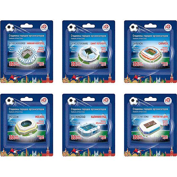 """Набор 3D пазлов № 1 IQ-puzzle """"Малые стадионы"""", 6 шт."""