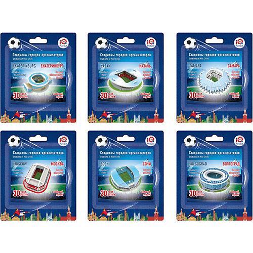 """Набор 3D пазлов № 2 IQ-puzzle """"Малые стадионы"""", 6 шт. от IQ Puzzle"""