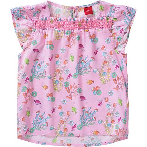 S.Oliver,s.Oliver Kinder Bluse mit Blumen Gr. 140 Mädchen Kinder | 04055268451008