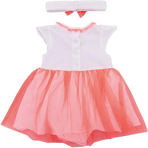 Комплект: платье,боди 3 Pommes для девочки - розовый от 3 Pommes