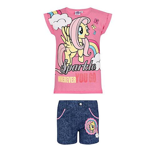 My Little Pony T-Shirt und Shorts Gr. 128 Mädchen Kinder | 04052384318857