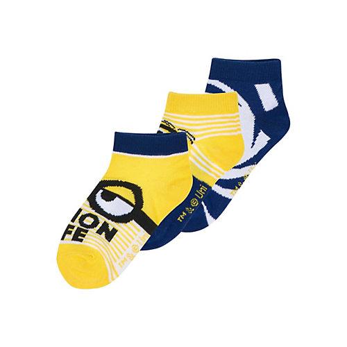 Minions 3 er Pack Socken Gr. 23-26 Jungen Kinder   04056085872366