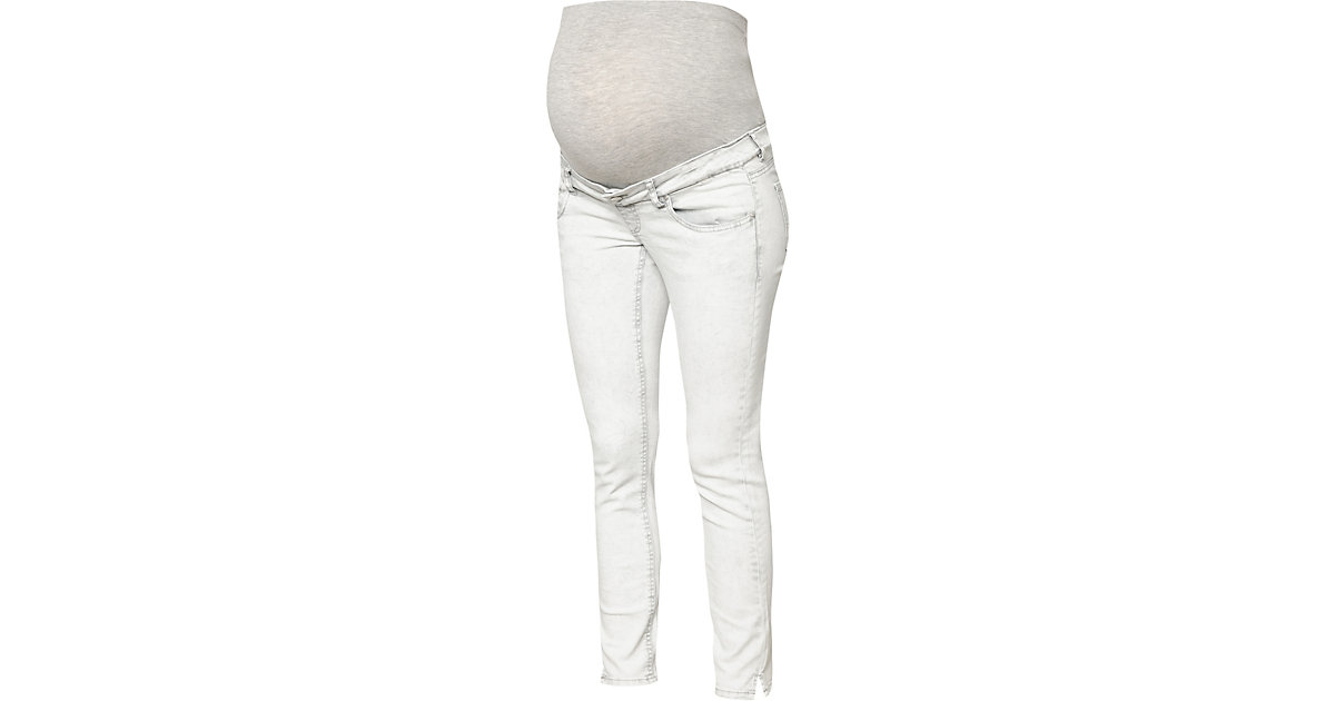 MLDETROIT 7/8 STONE WASH SLIM JEANS - Umstandsjeans - weiblich light grey denim Gr. W27/L32 Damen Kinder