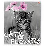 Тетрадь Альт Котята и цветы 48 листов, 5 шт., клетка