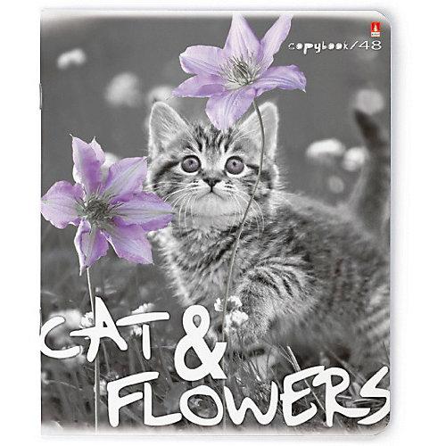 Тетрадь Альт Котята и цветы 48 листов, 5 шт., клетка от Альт
