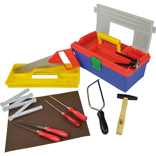 PEBARO Werkzeug-Set Plastikkoffer, im Plastikkoffer, Werkzeug-Set Pebaro 92e678