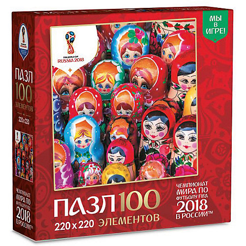 "Пазл Origami FIFA-2018 ""Матрёшки"" Красочные матрёшки, 100 элементов от Origami"