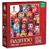 "Пазл Origami FIFA-2018 ""Матрёшки"" Красочные матрёшки, 100 элементов"